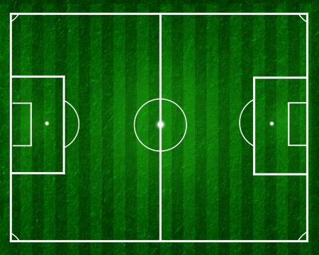 grass  plan: football field, soccer field with strips on green grass Stock Photo