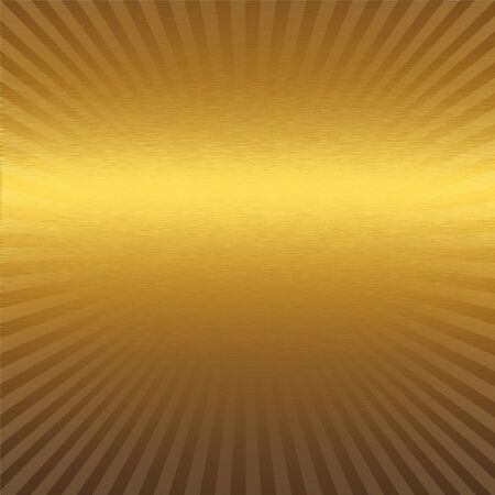 aluminum background: gold metal texture with delicate strips pattern Stock Photo