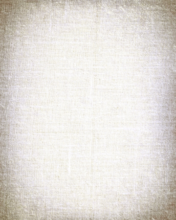 linen paper: white canvas with vignette to use as background or texture