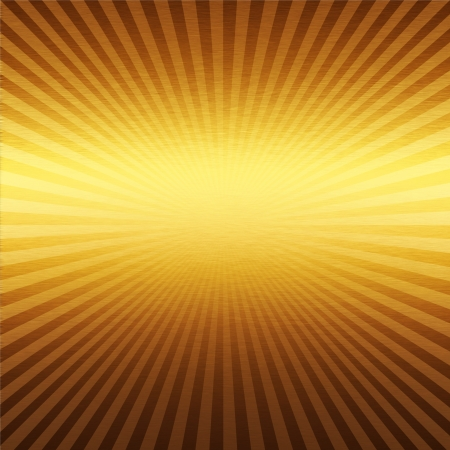 metalic sheet: gold metal background with beams of light Stock Photo