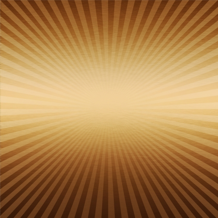 sunrises: gold metal background with sunrises strips, unique texture Stock Photo