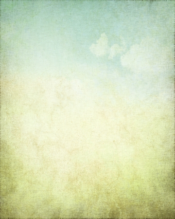 grunge background canvas texture with delicate abstract blue sky view photo