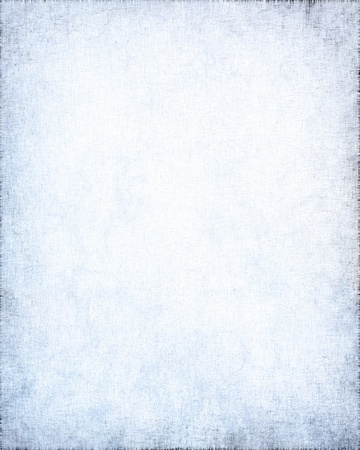 white background with delicate linen texture and blue grunge vignette photo