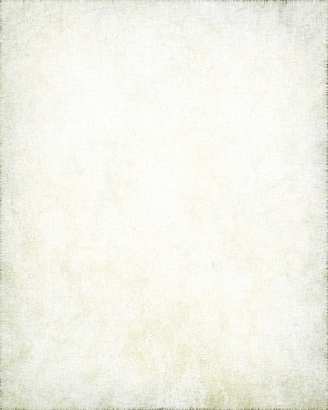 old parchment with linen texture, white grunge background photo