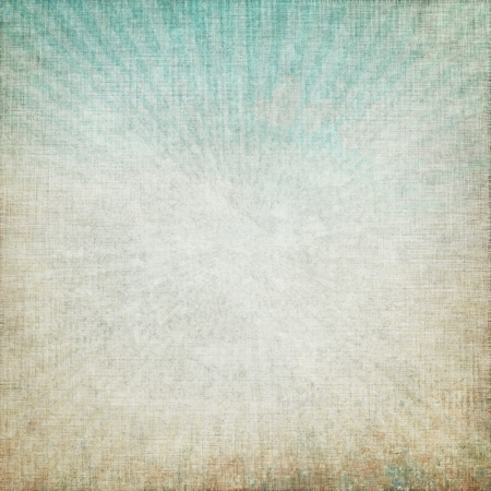 old grunge background with delicate rays abstract canvas texture and blue sky view Stock Photo - 15165585