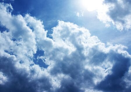 blue sky with white clouds and sunrises Stock Photo - 15165574