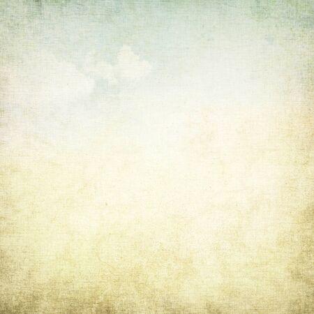 ročník: starý papír grunge pozadí s jemnou abstraktní plátno textury a modrou oblohu pohled