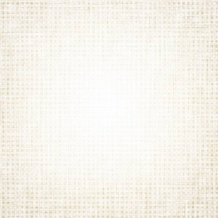 white linen: beige canvas texture with delicate grid, white background Stock Photo