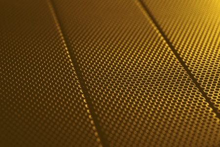 abstract gold metal background texture with lattice pattern, light gradient and small depth of field photo