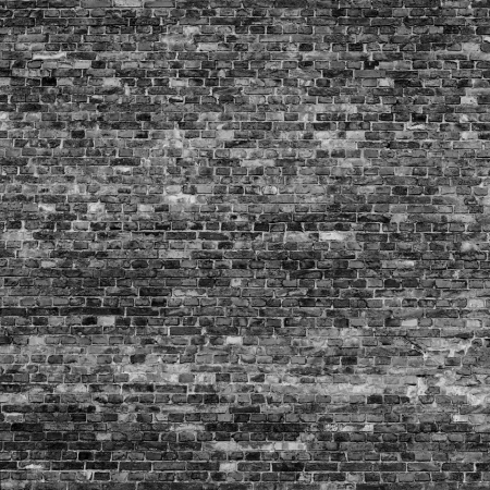 old brick wall texture background in black and white colors texture may use as halloween background photo