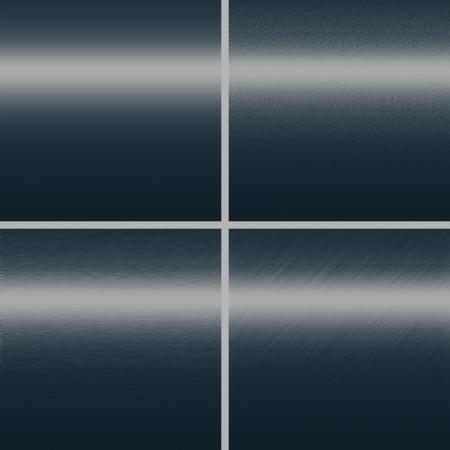 granatowy: granatowy tekstury metalu metal tle kolekcja płyta z czterema różnymi wzorami kopia przestrzeń