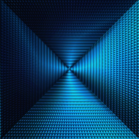 blue abstract background with triangle metallic shapes, may use for modern high tech advertising Stock Photo - 16041099