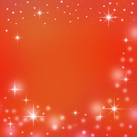 red christmas background with white snowflakes, sparkles and copy space Stock Photo - 16040803