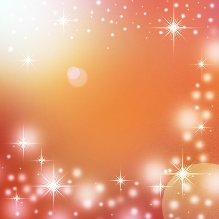 red christmas background with white snowflakes, sparkles and empty space for text Stock Photo - 16041103