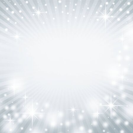 silver balls: cold blue abstract christmas background texture with delicate rays and beams of light and snow flakes