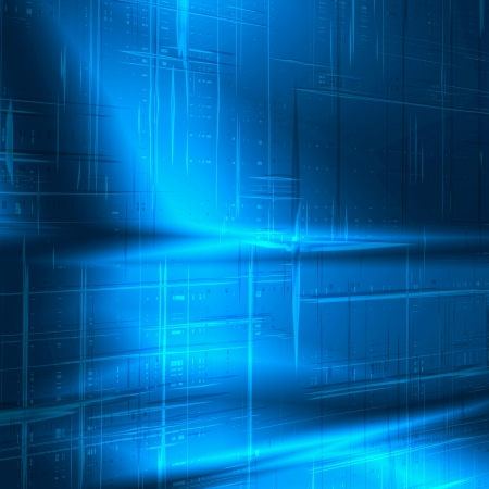 blue abstract background with technology striped texture, may use as business or high tech advertising Stock Photo - 16162998