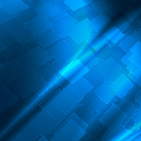 blue abstract background with cube pattern and vignette to high tech advertising or design Stock Photo - 16163028