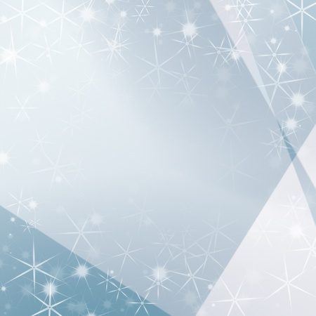 brigh blue abstract background with white stars as modern christmas background photo
