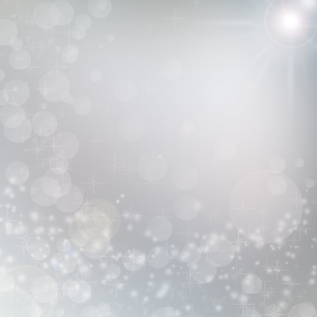 silver christmas: white lights on grey background, christmas background