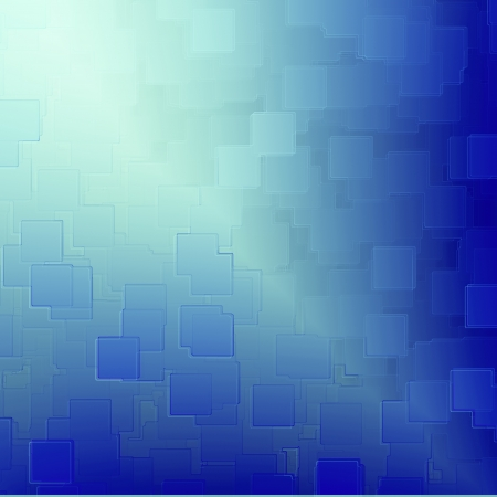 vignetted: blue abstract background cubes relief texture with beam of light, may use as high tech or medical background Stock Photo