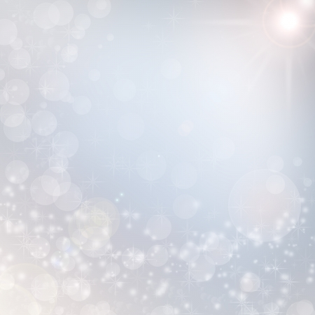 blur: christmas background snowflakes texture in blue abstract color Stock Photo