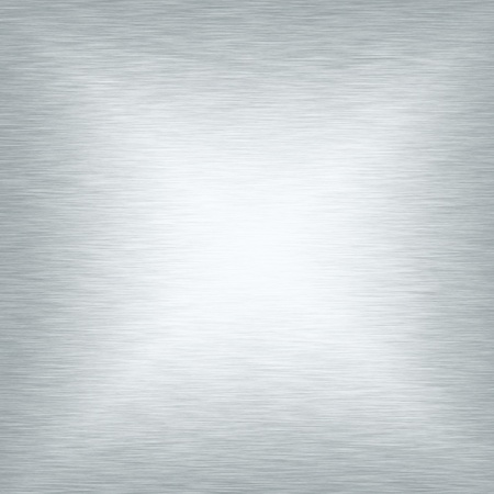 brushed aluminum: white metal texture smooth background Stock Photo