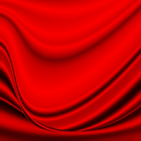 red abstract background wave silk satin fabric texture Stock Photo - 17454435