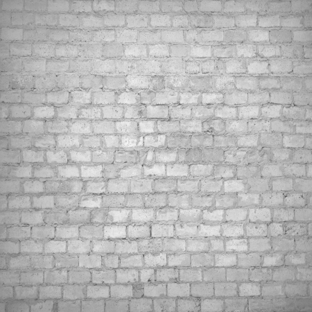 old red brick wall texture black and white grunge background with vignetted corners of interior Stock Photo - 18148389