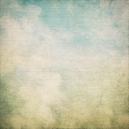 grunge border: canvas texture grunge background with canvas texture and blue sky view abstract painting