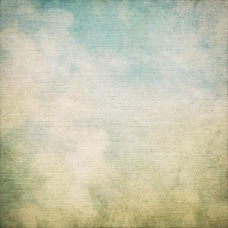 pergamino: textura de la lona de fondo del grunge con textura de lienzo y la pintura abstracta azul cielo vista Foto de archivo