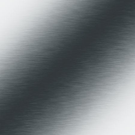 alluminum: brushed silver metal background, chrome texture Stock Photo