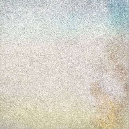 leather texture abstract grunge background with subtle blue sky view and stains  photo