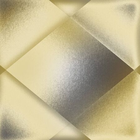 light gold and silver metal background texture with modern diamond shape frame border photo