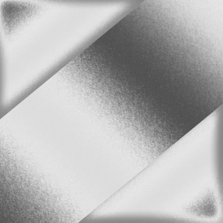 white background silver metal texture and triangle abstract frame photo