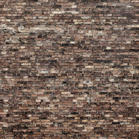 vignetted: red brick wall texture background to interior design Stock Photo