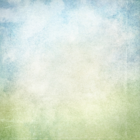 old wall grunge background with delicate abstract canvas texture and blue sky view