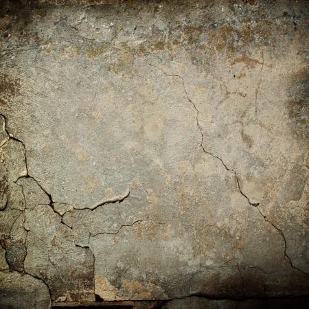 갈라진 금: 오래 된 벽 텍스처 그런 지 배경 및 검은 색 짤막한 스톡 사진
