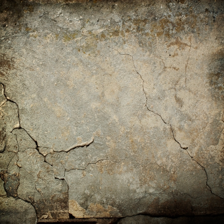 crack: old wall texture grunge background and black vignette Stock Photo