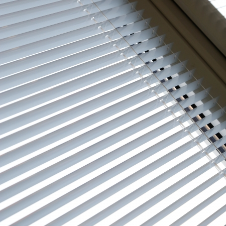 white shutter shades window striped background to interior design photo