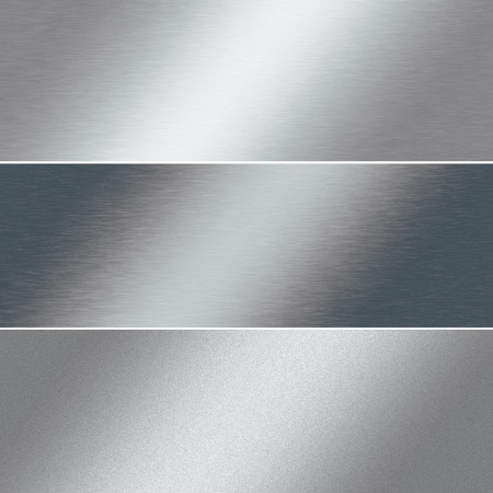 streak plate: brushed silver metal background, chrome texture, banner template