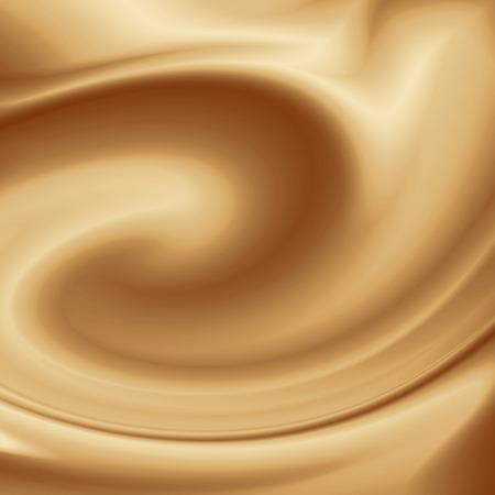 ミルクやチョコレート クリーム白いコーヒー背景渦の背景