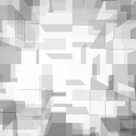 white abstract background modern cube pattern photo