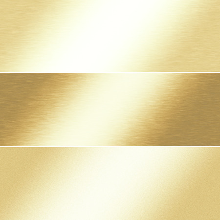 alluminum: gold background chrome metal texture, banner template