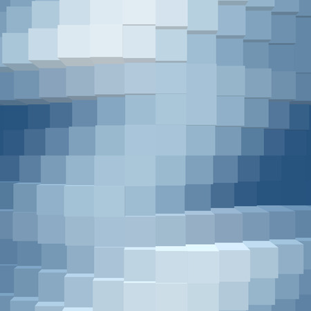 3d abstract background bright blue color cube pattern photo