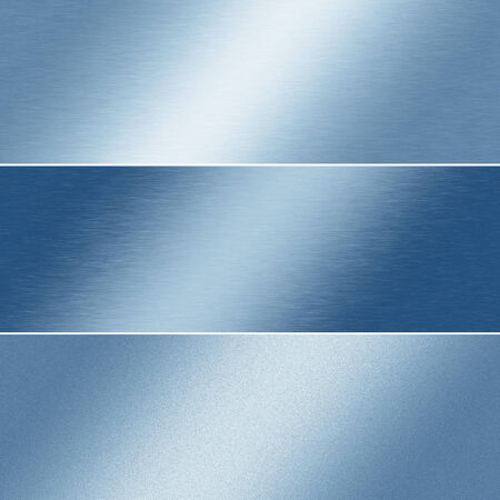 metall: blue metal texture abstract background banner templates Stock Photo