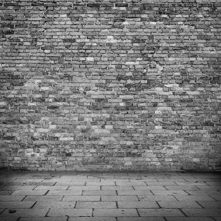 paredes de ladrillos: Fondo del grunge de la pared de ladrillo Foto de archivo
