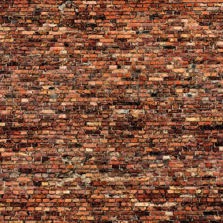 grunge achtergrond rode bakstenen muur textuur