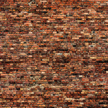 brick background: grunge background red brick wall texture Stock Photo