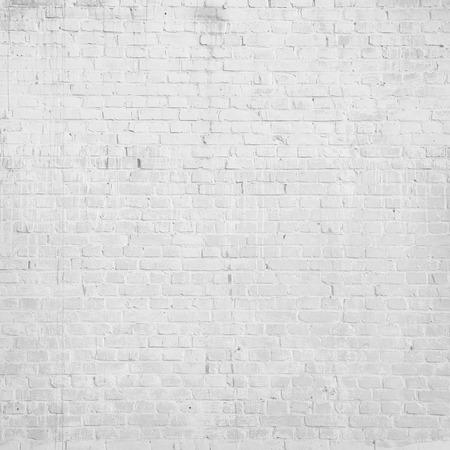 witte achtergrond: witte bakstenen muur textuur grunge achtergrond