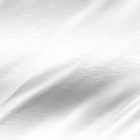 alluminum: white background, chrome metal texture and lighting effects Stock Photo